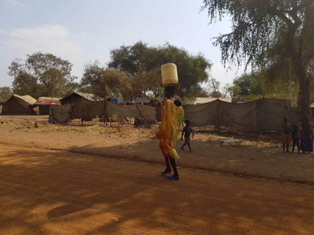 Women Carrying Water on Doro Refugee Camp, Maban, South Sudan